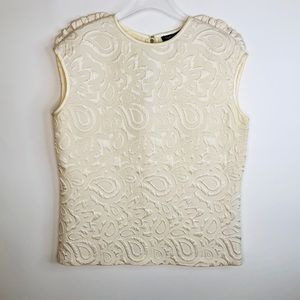 Cynthia Rowley Cream Sleeveless Blouse